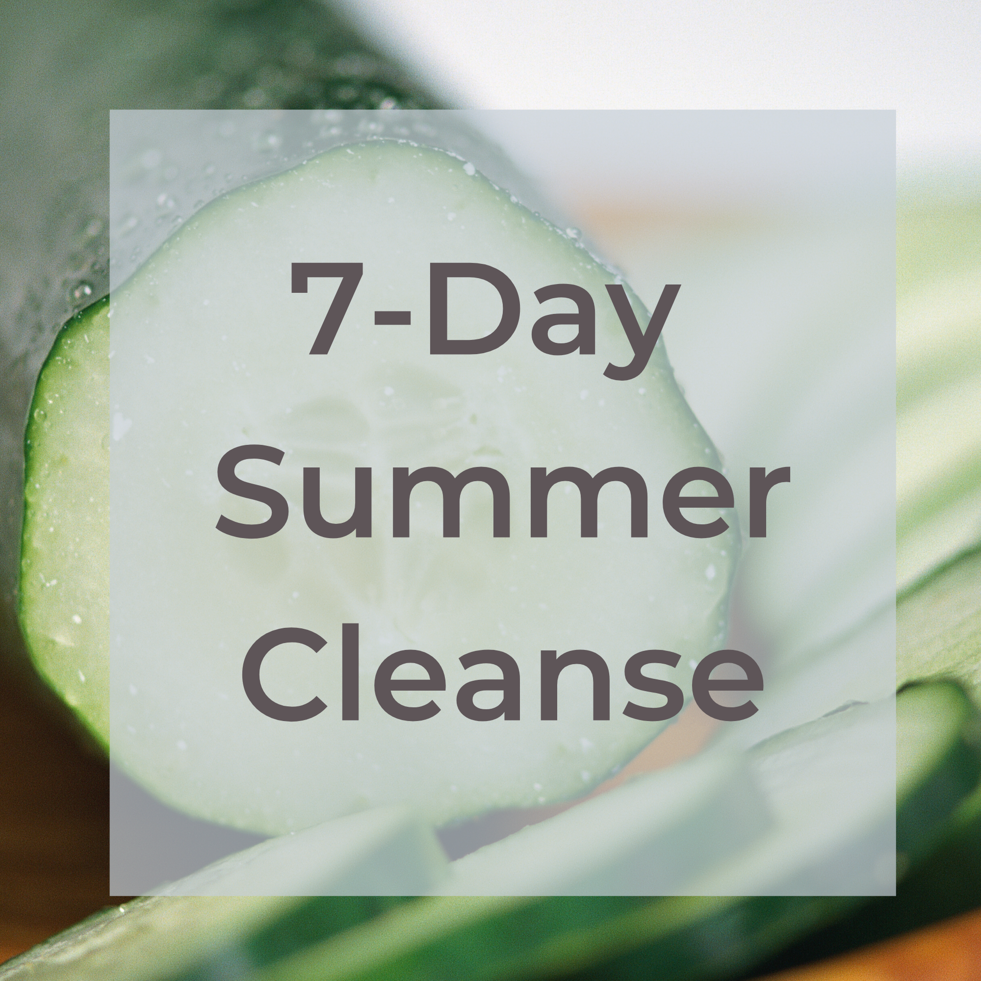 7- Day Summer Cleanse